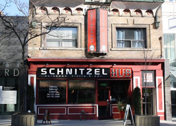 Schnitzel Hub - Yonge and St. Clair restaurants, schnitzel, borscht