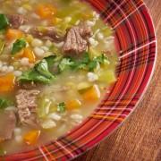 Robust beefy mushroom and barley soup