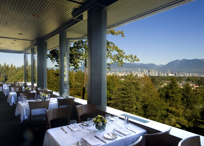 Seasons in the Park offers spectacular views with its great West coast inspired cuisine.