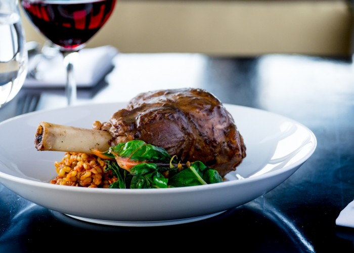 Sky 360 serves locally sourced lamb from a farm within viewing distance of the Calgary Tower