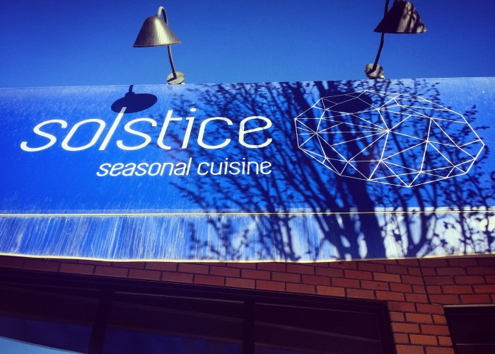 Solstice Seasonal Cuisine is located on 124 Street, an up-and-coming area of the city.