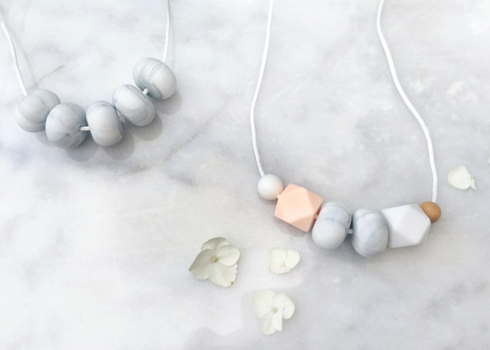 String for Pearls designs teething jewellery that's understated and fashionable for moms, while also safe and sensory for babies.