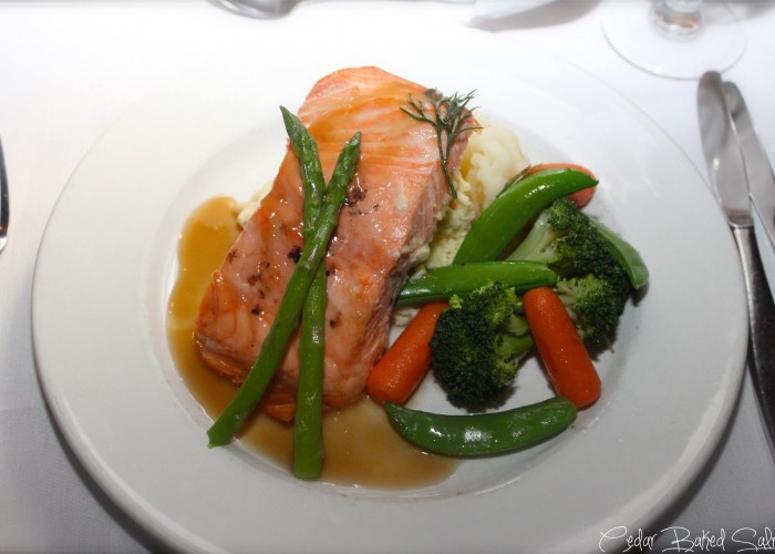 The Creperie serves more than just crepes; they also create elegant entrees, such as salmon.