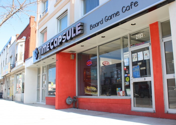 Time Capsule Board Game Café is a café-gaming destination located just a few minutes walk from Woodbine Station.
