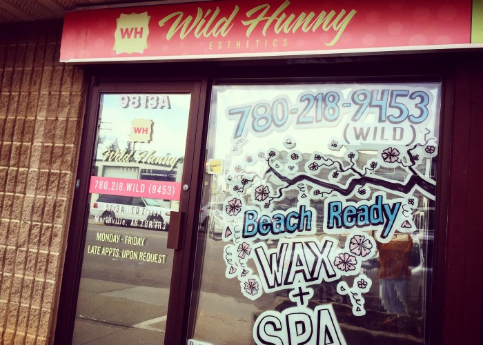 Wild Hunny Esthetics, a full service spa offering full body wax, manicures, pedicures, tanning, and facials, is located in Morinville.
