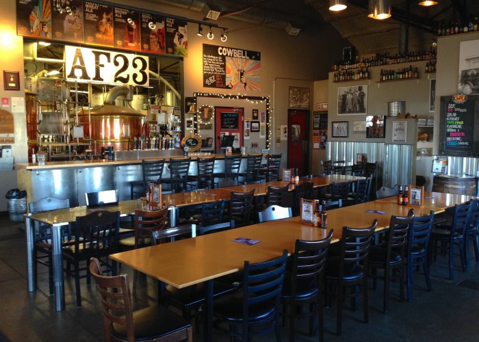 Wild Rose Brewery Taproom features a brewing facility.