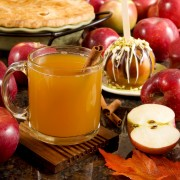 Homemade hot spiced cider and Holiday wassail