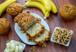 Deliciously decadent homemade banana nut bread