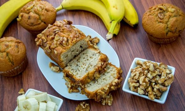 Deliciously decadent homemade banana nut bread