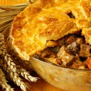 2 savoury meat pie recipes: turkey and beef