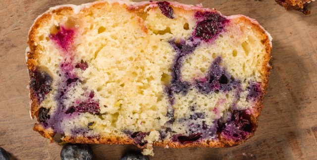Decadent dessert: blueberry swirl coffee cake