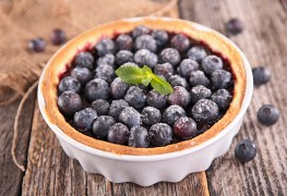 Decadent dessert: blueberry-orange tart
