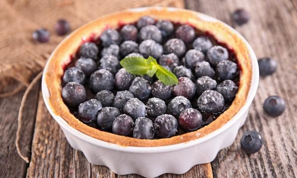 Decadent dessert: blueberry-orange tart