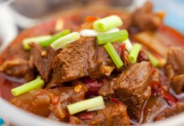 Main meat dish: slow-braised beef and barley