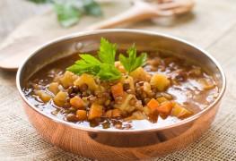 Simple soup using super healthy lentils