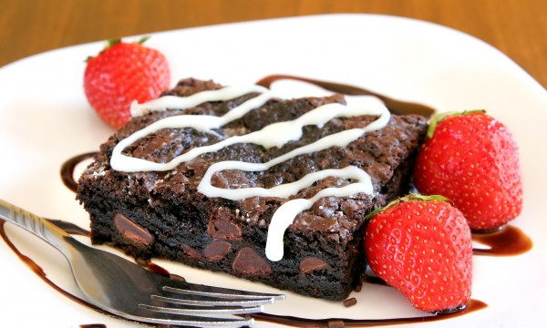Decadent dessert: brownie bomb