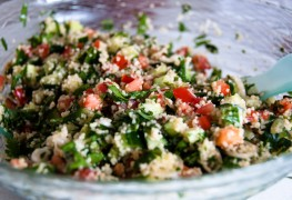 2 whole-grain salads with bulgur
