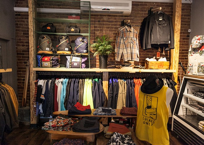 Italian café and clothing for men, some clothing for women