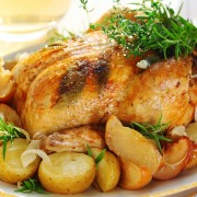 Dinner tonight: chicken with apples