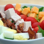 The ultimate Cobb salad with warm bacon dressing