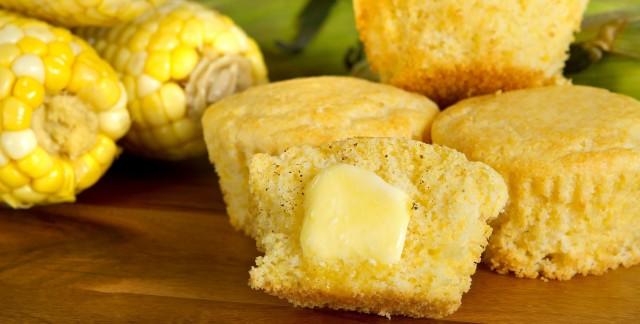 Savoury Southwestern cornbread muffins