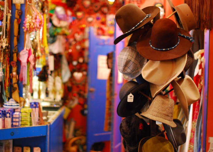 Vintage hats, shoes and other accessories abound at Courage My Love.