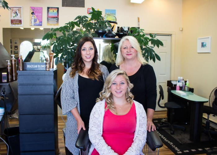Deb 'n Hair is a family business, with the owner's daughters helping her expand the salon's versatility of services