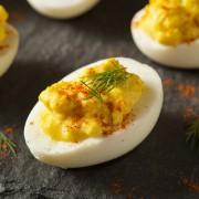 Amazing appetizer: homemade devilled eggs