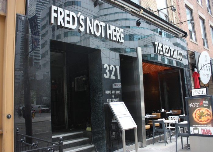 Fred's Not Here has been a popular restaurant on King Street West for over 30 years.