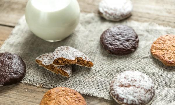 Decadent dessert: old-fashioned glazed gingerbread