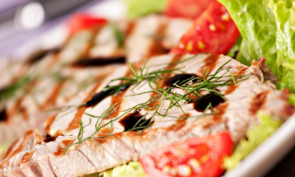 Dinner tonight: grilled tuna with hot-pepper spread