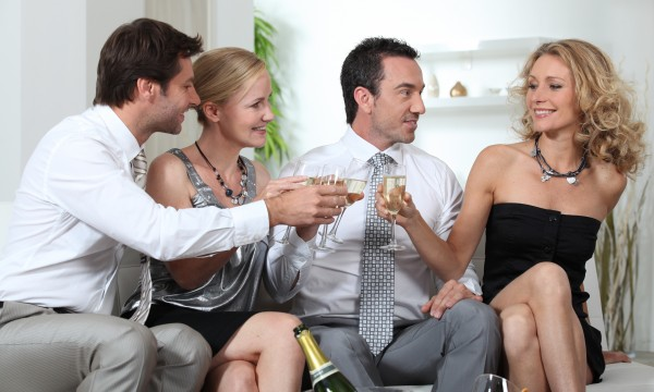 couple entertaining guests how to call them