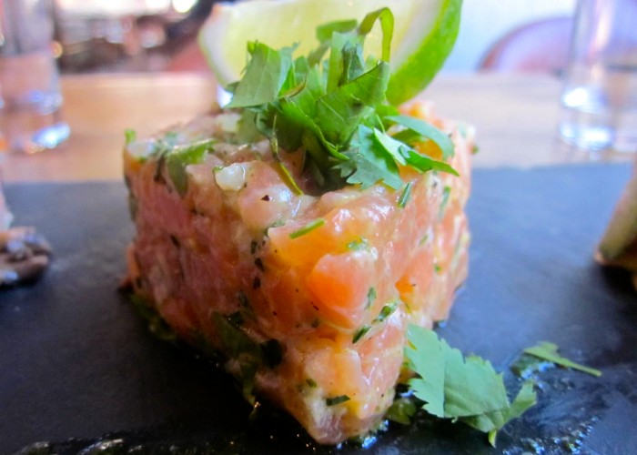 Le Hachoir's salmon tartare is one of their most popular dishes.