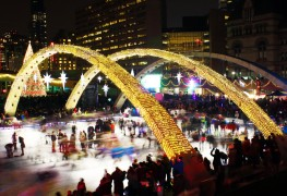 Outdoor skating rinks in Toronto