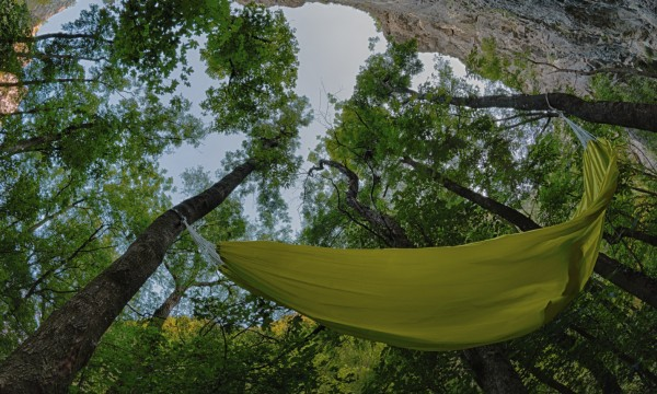 Take camping to new heights with a hammock tent