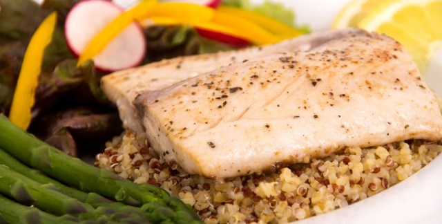 Dinner tonight: Asian grilled mahi-mahi and sautéed grouper