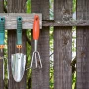 Make your own garden tool rack
