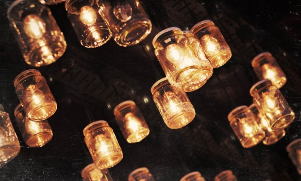 Make your own outdoor party lights