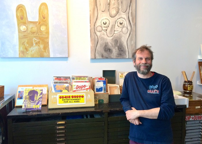 Billy Mavreas is the owner of Monastiraki, a store that specializes in art and paper.