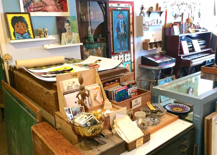 Monastiraki is an oddities art gallery that specializes in printed works and paper collections.