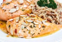 Dinner tonight: orange-glazed chicken with rice