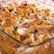 Dinner tonight: Grecian pasta bake