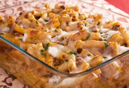 Dinner tonight: Grecian pasta bake