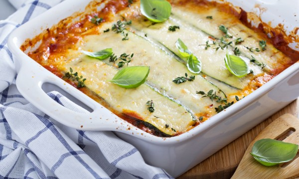 Dinner tonight: pasta-less lasagna and cold sesame noodles