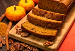 Decadent dessert: homemade carrot bread and pecan bread