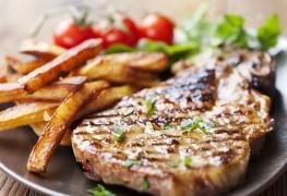Dinner tonight: pork chops with dark butter sauce