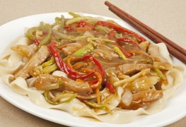 Dinner tonight: sweet-and-sour pork lo mein