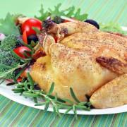 Dinner tonight: orange-rosemary cornish hens