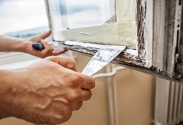 Maintaining storm windows to keep the cold out