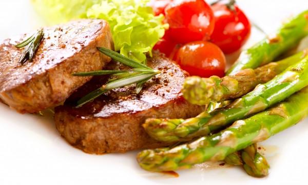 Dinner tonight: sirloin steaks with port sauce